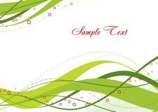 Abstract groen malplaatje Stock Afbeelding