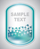 Abstract groenachtig laboratoriumetiket Royalty-vrije Stock Afbeelding