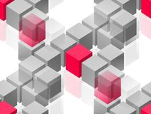 Abstract group. Cubes Stock Photography