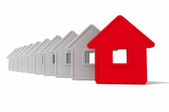 Abstract group of houses Royalty Free Stock Photos