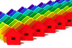 Abstract group of houses Royalty Free Stock Image