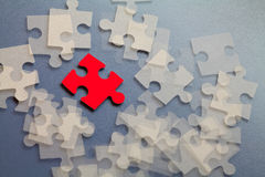 Abstract group puzzle Royalty Free Stock Images