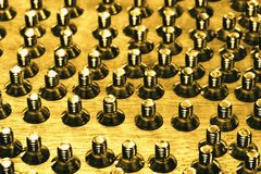 Abstract group of screws Royalty Free Stock Image