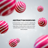Abstract group of spheres Stock Photos