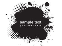 Abstract grunge. Object black and white vector illustration Royalty Free Stock Image