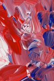 Abstract background in red, white and blue tones. Abstract grunge acrylic paint background abstract in red, white and blue tones stock photography
