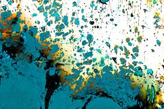 Abstract grunge art background texture with colorful paint splashes royalty free stock photos