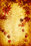 Abstract grunge autumn background with leaves Stock Photo