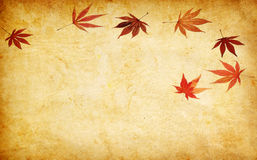 Abstract grunge autumn background with leaves. Abstract grunge autumn background for multiple uses stock illustration