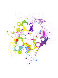 Abstract grunge background. Vector illustration of abstract elements and splashes Stock Images