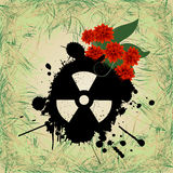 Abstract grunge background. With nuclear hazzard sign Stock Image