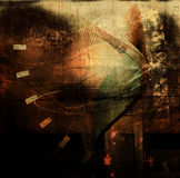 Abstract grunge background. Abstract composition on a grunge textured background Royalty Free Stock Photography