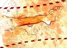 Abstract grunge background. Orange banner Vector Illustration