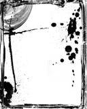 Abstract grunge background. With, torn floral, filigree, stains, splatter, burned, frame vector illustration