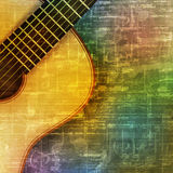 Abstract grunge background with acoustic guitar. Abstract green music grunge background with acoustic guitar vector illustration Vector Illustration