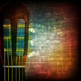 Abstract grunge background with acoustic guitar. Abstract music grunge vintage background acoustic guitar Royalty Free Illustration