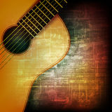 Abstract grunge background with acoustic guitar Stock Photos