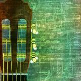 Abstract grunge background with acoustic guitar. Abstract music grunge vintage background with acoustic guitar vector illustration Royalty Free Illustration