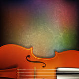 Abstract grunge background with acoustic guitar Royalty Free Stock Images