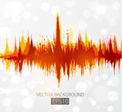 Flame on white background. Place for your text. Vector illustration. Abstract grunge background with amplitude modulation. Spectrum analyzer, music equalizer royalty free illustration