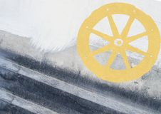 Abstract grunge background with cart wheel Stock Image