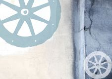 Abstract grunge background with cart wheel Royalty Free Stock Photography
