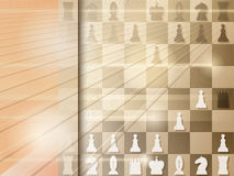 Abstract grunge background with chessboard. Checkmate. Vector. Illustration royalty free illustration