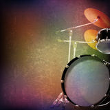 Abstract grunge background with drum kit Stock Photos