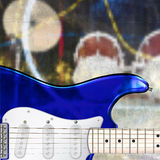 Abstract grunge background with electric guitar. Abstract grunge music background with electric guitar Stock Photo