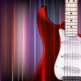 Abstract grunge background with electric guitar Stock Image