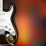 Abstract grunge background with electric guitar Stock Photos