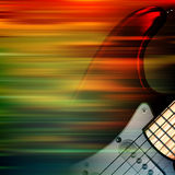 Abstract grunge background with electric guitar. Abstract brown motion blur background with electric guitar Stock Photos
