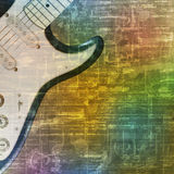 Abstract grunge background with electric guitar. Abstract green music grunge background electric guitar vector illustration Royalty Free Stock Image