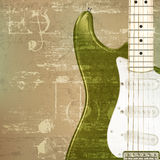 Abstract grunge background with electric guitar. Abstract green sound grunge background with electric guitar Stock Photos