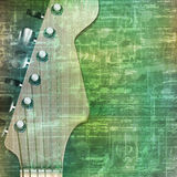 Abstract grunge background with electric guitar. Abstract music grunge vintage background with electric guitar vector illustration Royalty Free Stock Images