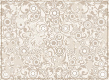 Abstract Grunge Background with Filigree Ornament