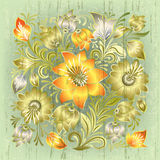 Abstract grunge background with floral ornament Royalty Free Stock Photos