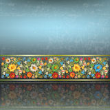 Abstract grunge background with floral ornament Royalty Free Stock Image