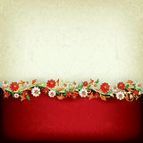 Abstract grunge background with floral ornament Royalty Free Stock Photo