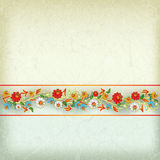 Abstract grunge background with floral ornament Stock Image