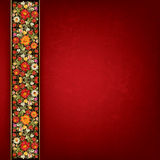 Abstract grunge background with floral ornament Stock Photo