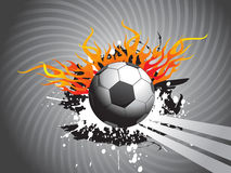 Abstract grunge background with football and flame Stock Photography