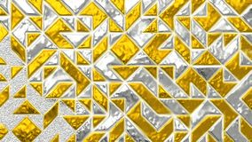 Gold and silver 3D realistic abstract background. Abstract grunge background. Gold and silver geometric wall for backgrounds design, template, luxury covers royalty free illustration