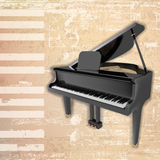 Abstract grunge background with grand piano Stock Image