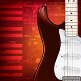 Abstract grunge background with guitar Royalty Free Stock Photography