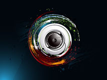 Abstract grunge background, loudspeaker. Dirty abstract grunge background, loudspeaker Royalty Free Stock Photography