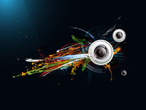 Abstract grunge background, loudspeaker Stock Photo
