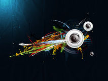 Abstract grunge background, loudspeaker Stock Image