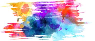 Abstract grunge background. Abstract multicolored brushed grunge background Stock Photo