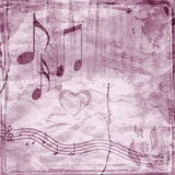 Abstract Grunge background with music notes. Grunge background with filigree stains Stock Photos